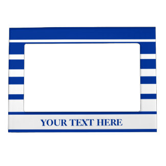Nautical magnet photo frame | Blue and white Picture Frame Magnets