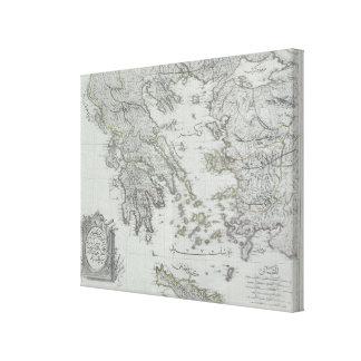 Nautical Map Canvas Print