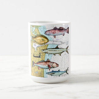 Nautical map coffe mug