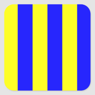 Nautical Marine Signal Flag Letter G (Golf) Square Sticker
