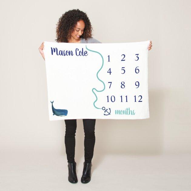 Nautical Milestone Blanket Zazzle Com Au
