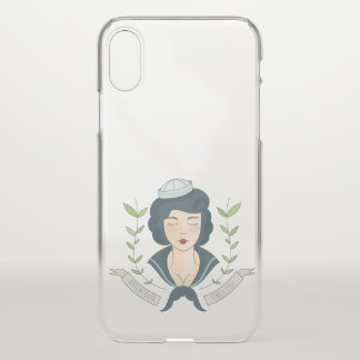 Nautical. Miss Navy Tattoo. iPhone X Case
