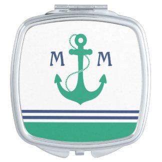 Nautical Monogram Compact Mirrors