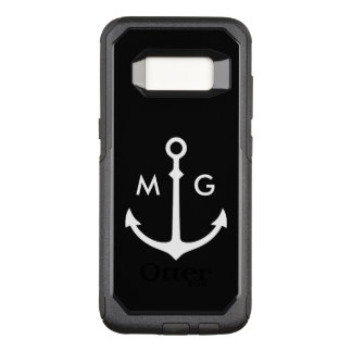 Nautical Monogram Design OtterBox Commuter Samsung Galaxy S8 Case