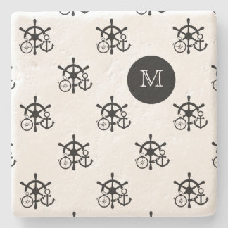 Nautical Monogram Drink Coasters