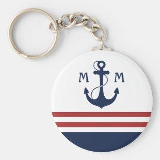 Nautical Monogram Key Chain