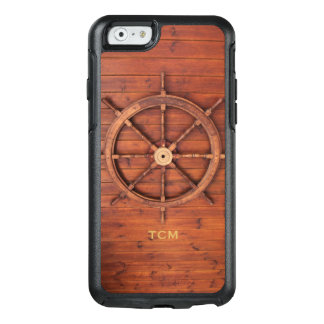 Nautical Monogram Ship Captain's Wooden Helm Wheel OtterBox iPhone 6/6s Case