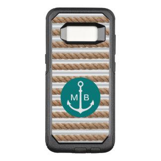 Nautical Monogram Theme OtterBox Commuter Samsung Galaxy S8 Case