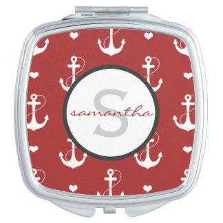 Nautical Monogram Vanity Mirror