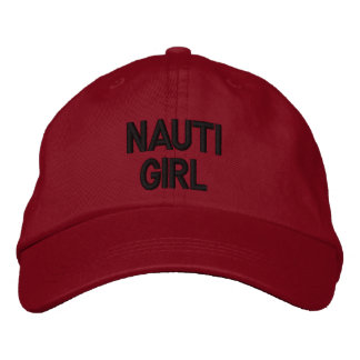 Nautical Nauti Girl Red Hat