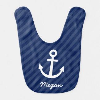 Nautical Navy Anchor Bib