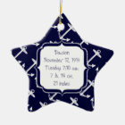 Nautical Navy Anchor Pattern Ceramic Ornament