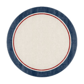 Nautical Navy and Red Border Cutting Board