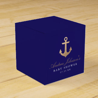 Nautical Navy Baby Shower Favor Boxes