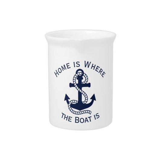 Nautical Navy Blue Anchor {pick your colour} Pitcher