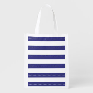 Nautical Navy Blue And White Stripes Pattern
