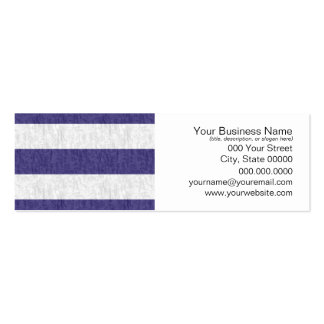 Nautical Navy Blue White Stripes Business Cards