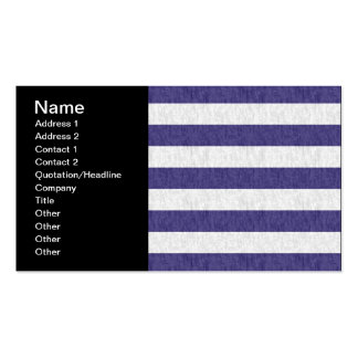 Nautical Navy Blue White Stripes Business Card Template