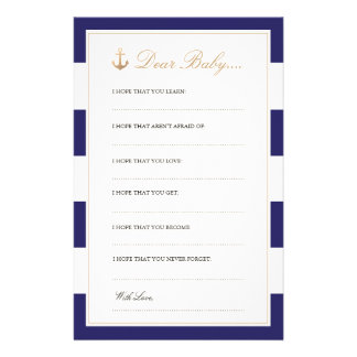 Nautical Navy | Dear Baby Cards Stationery Paper