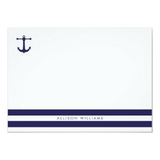 Nautical Navy Flat Note Cards 11 Cm X 16 Cm Invitation Card