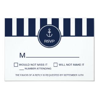 Nautical Navy RSVP Card 9 Cm X 13 Cm Invitation Card