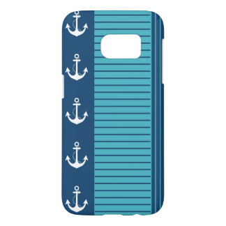 Nautical Navy Turquoise Stripe Design
