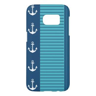 Nautical Navy Turquoise Stripe Design
