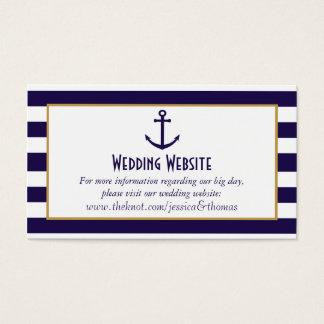 Nautical Navy & White Stripe Anchor Wedding