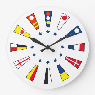 Nautical Numbers Wall Clock