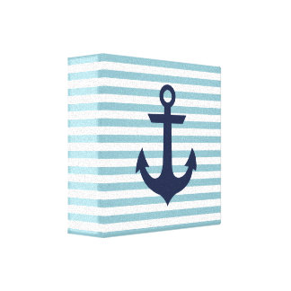 Nautical nursery anchor canvas stretched canvas prints