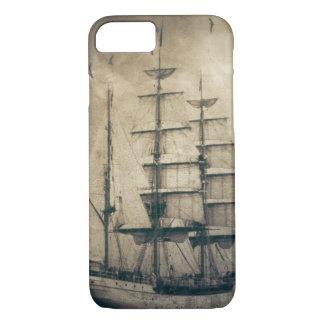 Nautical Ocean Sea Vintage Sailing sailboat iPhone 7 Case