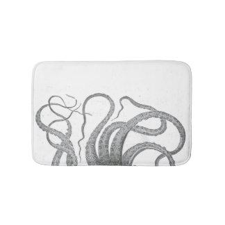 Nautical octopus tentacles vintage kraken steampun bath mat