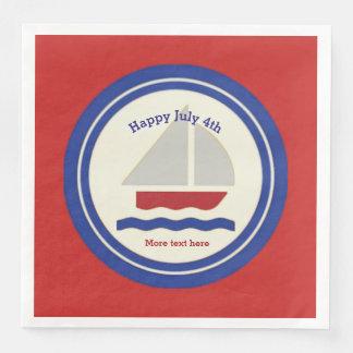 Nautical  Patriotic Paper Napkins