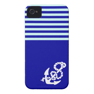 Nautical pattern and anchor iPhone cases