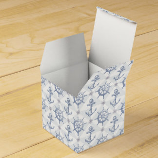 Nautical Pattern Favor Box