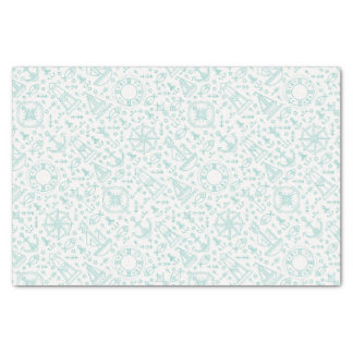 Nautical pattern light green tissue paper