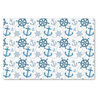 Nautical pattern tissue paper