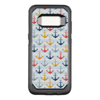 Nautical Pattern with Anchors OtterBox Commuter Samsung Galaxy S8 Case