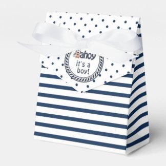 Nautical Penguin Boy's Baby Shower Favour Box