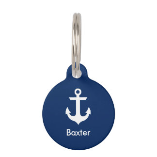 Nautical Personalized Dog Tag B -Phone on Back