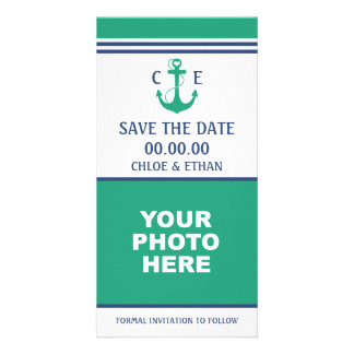 Nautical Photo Save the Date Photo Greeting Card