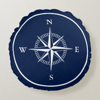 Nautical Pillow with Compass