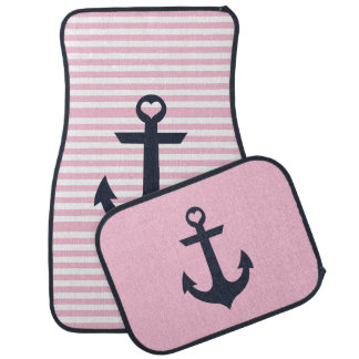 Nautical Pink Car Mats