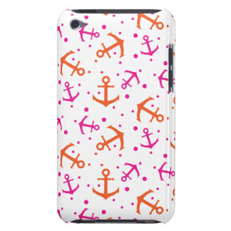 Nautical pink orange pattern barely there iPod case