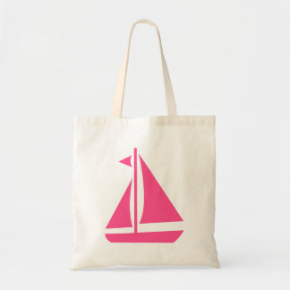 Nautical Pink Sailboat- Beach Ocean Boat Tote Bag