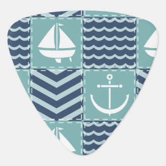 Nautical Quilt Guitar Pick