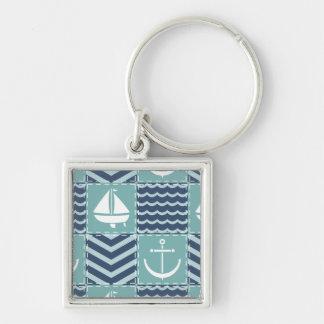 Nautical Quilt Keychain
