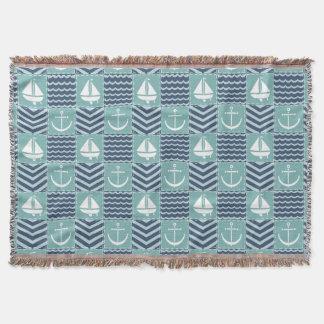 Nautical Quilt Throw Blanket