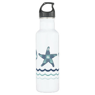 Nautical Quilt Water Bottle