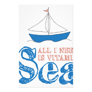 Nautical Quote Stationery